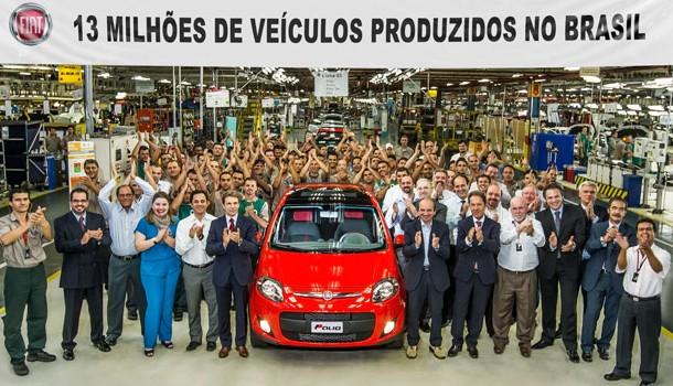 Fiat Brasil alcanza 13 millones de vehículos producidos
