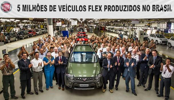 Fiat pasa la marca de 5 millones de autos flex vendidos en Brasil