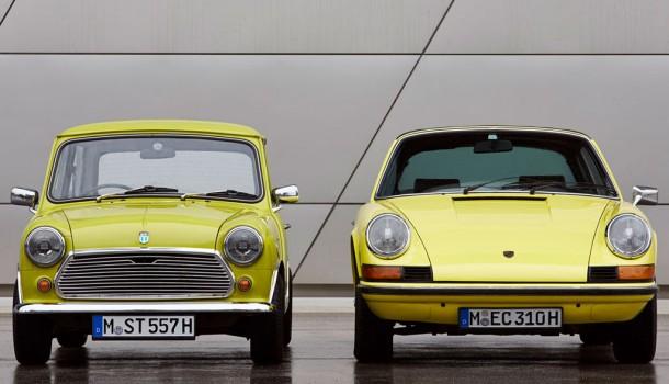 Mini felicita al Porsche 911 por sus 50 años