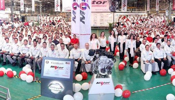 Nissan Mexicana produce su motor 9 millones en Aguascalientes