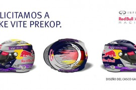 Infiniti felicita Jake Vite Prekop, ganador del diseño para el casco Sebastian Vettel