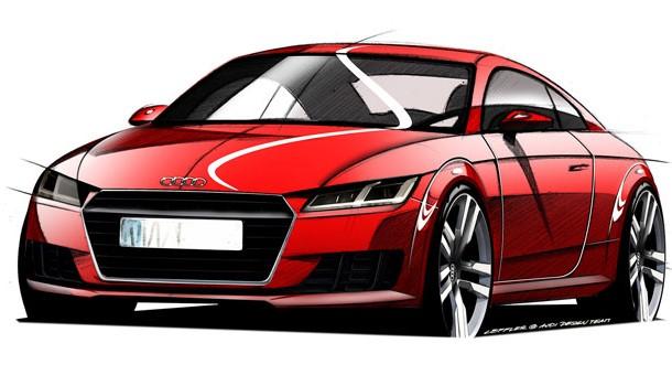 Los primeros bocetos del Audi TT 2015