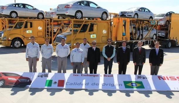 Nissan realiza el primer envío de vehículos producidos en Aguascalientes 2 con destino a Brasil