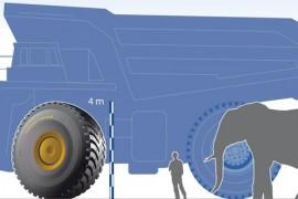 ¿Sabías que la llanta más grande de Goodyear mide y pesa como un elefante?