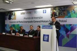 Invertirá General Motors 87mdd en Planta de Estampado San Luis Potosí