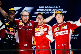 Sebastian Vettel gana a través del drama en Singapur