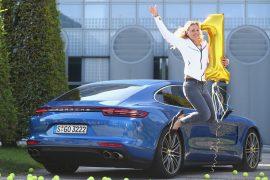 Encuentro de amor: Porsche Panamera y Angelique Kerber