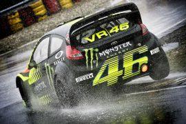 Rossi vs Dani Sordo en el Monza Rally Show