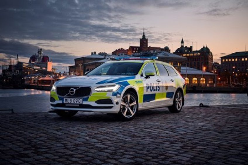 V90 de Volvo, el nuevo auto de la Policía Sueca