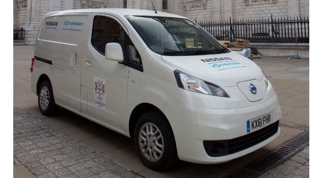 Nissan y la corporación 'City of London' colaboran en pruebas del e-NV200