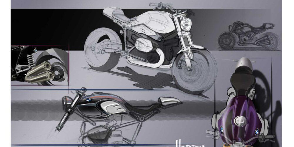 BMW R nineT: Los dibujos que le dieron vida
