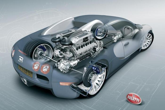 #MiércolesDeMotor – W16 de Bugatti