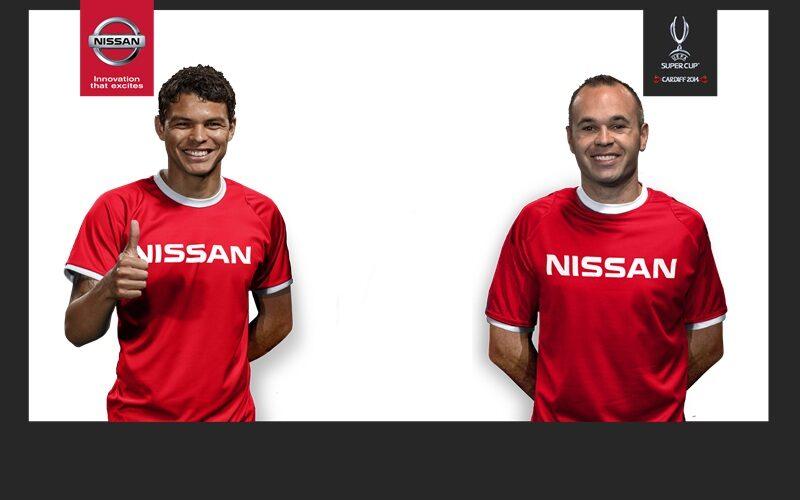 Nissan da la bienvenida a Andrés Iniesta y Thiago Silva como nuevos embajadores