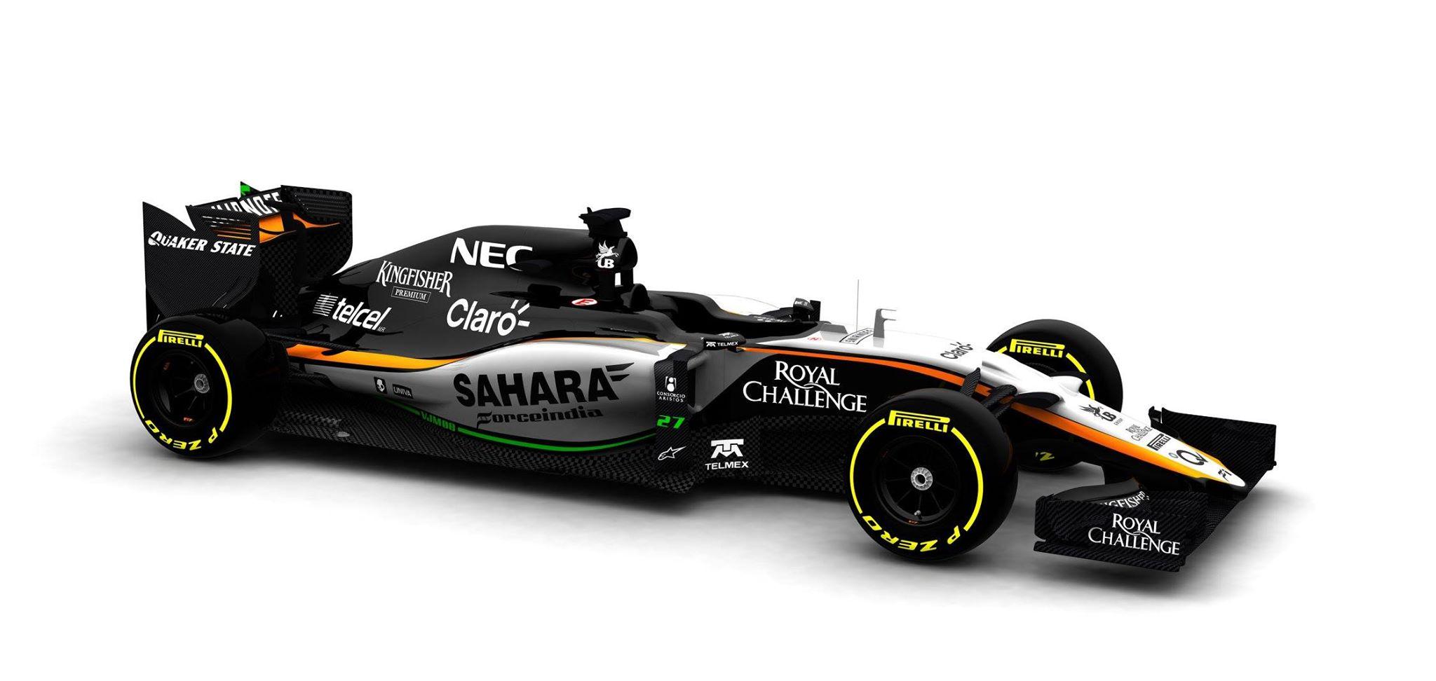 Force India revela primera imagen del nuevo VJM08