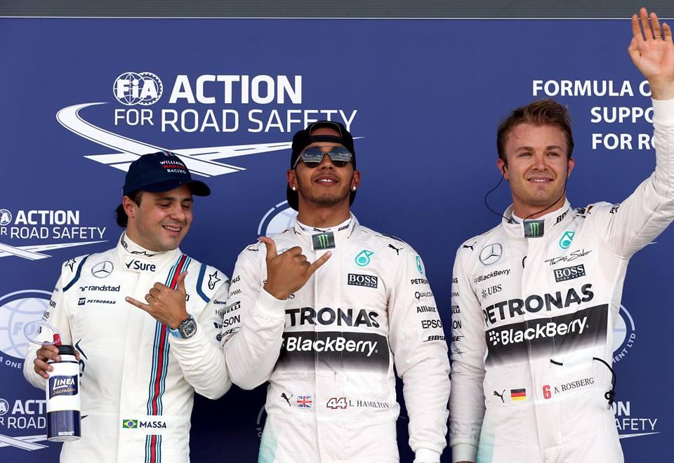 """Hamilton el """"poleman"""" en Silverstone"""