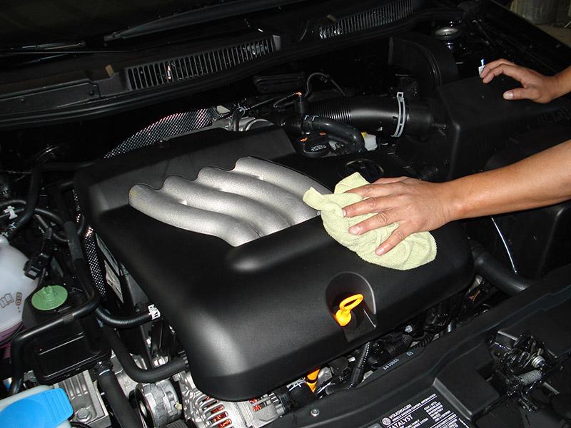 lavado del motor con agua