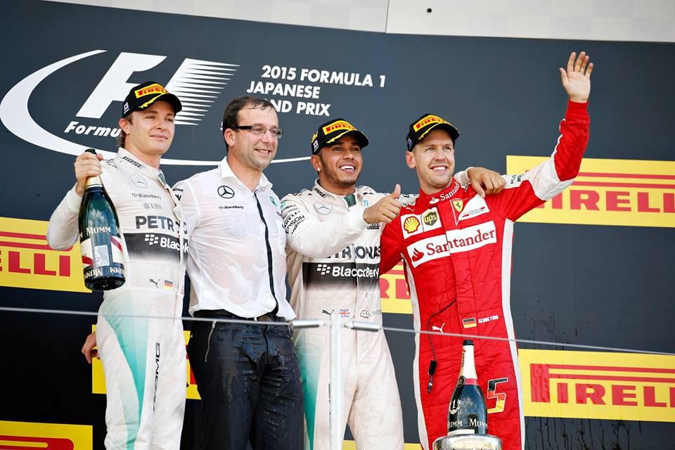 Lewis Hamilton domina en Suzuka