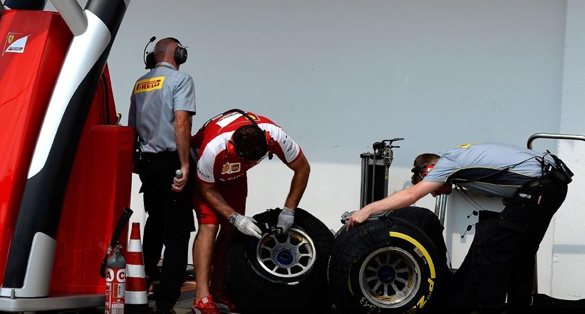 El prolongado uso, fue la causa de la falla del neumático de Vettel