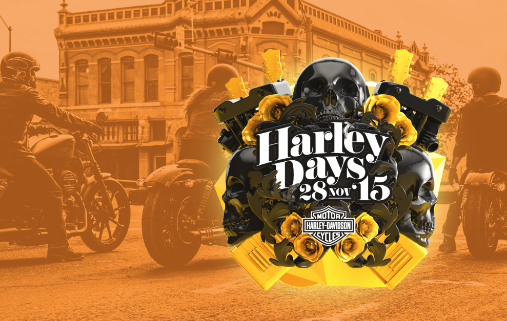 Súbete a la motocicleta, ¡ven a Harley Days!
