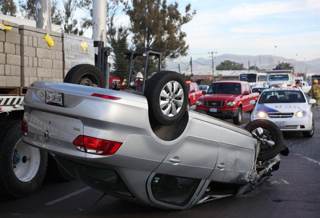 México D.F., tercer lugar en accidentes viales