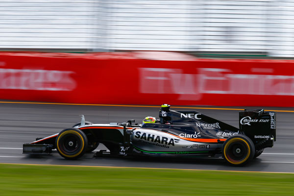 Sergio Perez (MEX) Sahara Force India F1 VJM09. Australian Grand Prix, Sunday 20th March 2016. Albert Park, Melbourne, Australia.