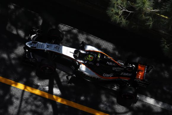 Sergio Perez (MEX) Sahara Force India F1 VJM09. Monaco Grand Prix, Saturday 28th May 2016. Monte Carlo, Monaco.