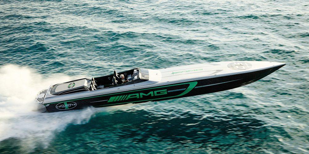 Este bote tiene 3,100 caballos de potencia: Mercedes-AMG y Cigarette