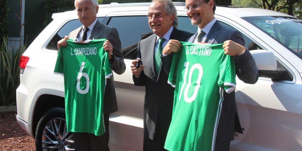 """FCA anuncia a Jeep como el nuevo Auto Oficial del """"Tri"""", la Selección Mexicana de Fútbol"""