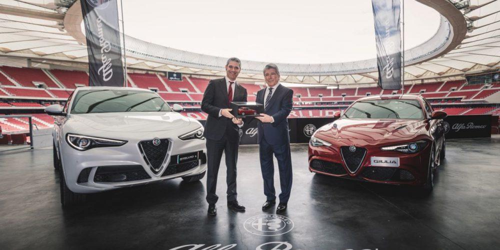 En el Atlético de Madrid ya prueban el nuevo Alfa Romeo Stelvio