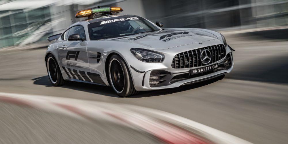 ¿Cómo es un Safety Car en la F1? Mercedes-AMG GT R en la pista