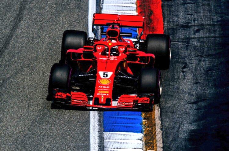 Pole de Vettel en casa, Hamilton abandona