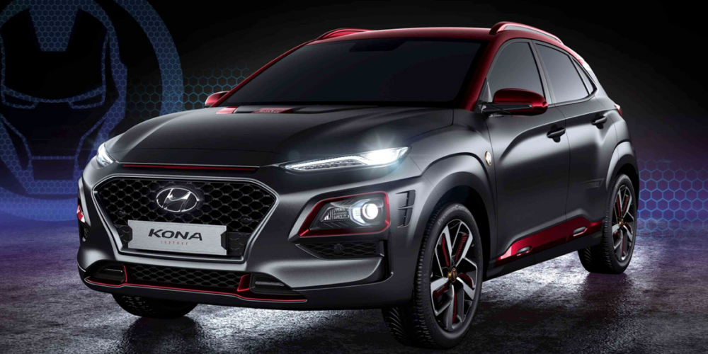 Esta camioneta está inspirada en Iron Man, es una Hyundai Kona de Edición Especial