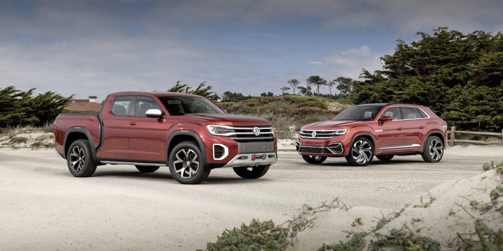 VW Atlas Cross Sport Concept y Atlas Tanoak Concept en el Monterey Car Week