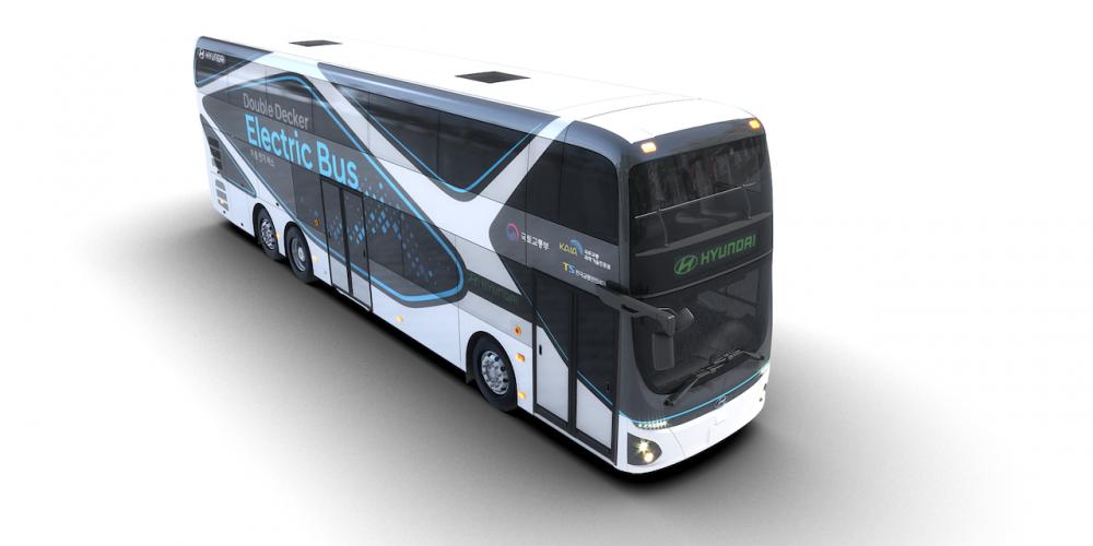 Hyundai muestra un nuevo autobús de dos pisos completamente eléctrico