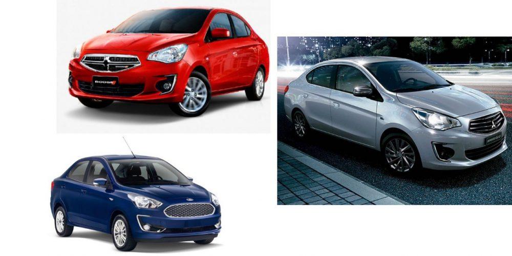 Comparativa: Dodge Attitude, Ford Figo y Mitsubishi Mirage G4 modelos 2019