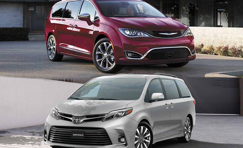Comparativa: Chrysler Pacifica 2019 vs Toyota Sienna 2019