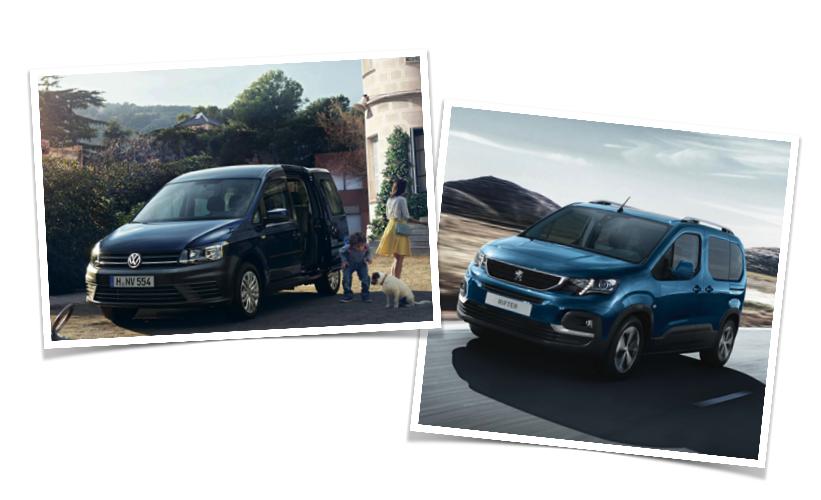 Peugeot Rifter y VW Caddy: la lucha europea en 7 pasajeros