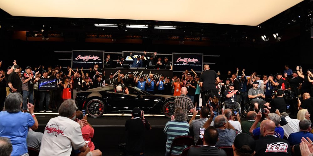 Final seventh generation Chevrolet Corvette auctioned for record-breaking 2.7 million dollars benefitting Stephen Siller Tunnel to Towers Foundation.