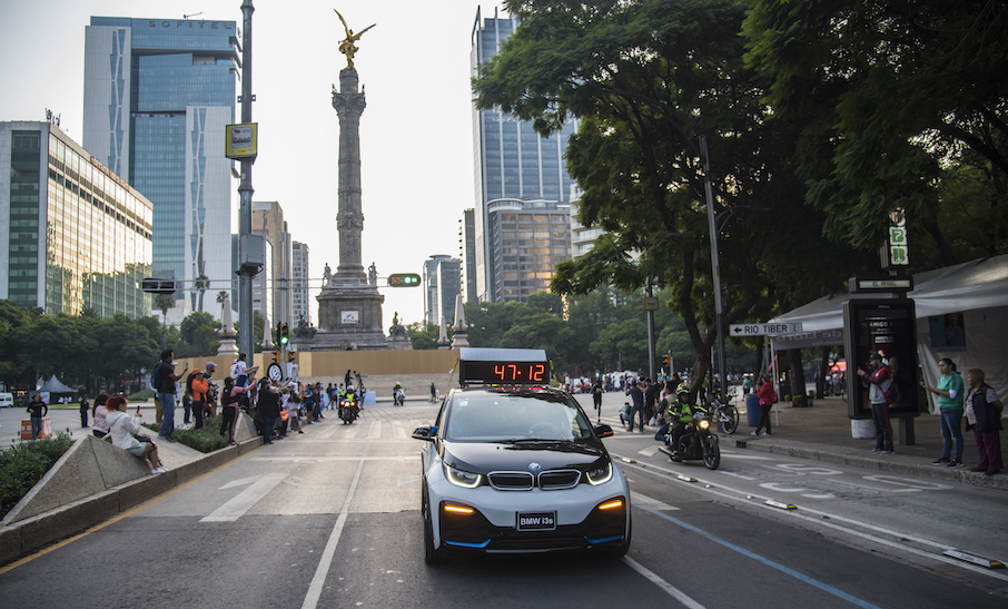 BMW i3s, vehículo oficial del Maratón de la CDMX Telcel 2019