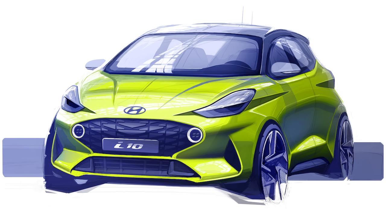 Hyundai revela el primer boceto del nuevo subcompacto i10