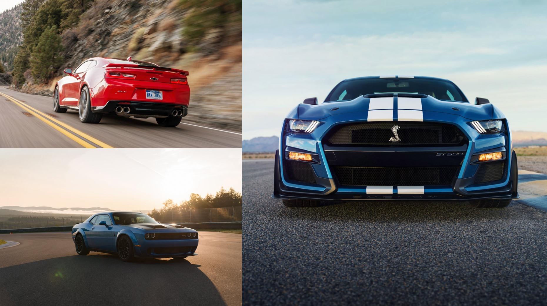 Shelby GT500 vs. su competencia: Challenger Hellcat Redeye y Camaro ZL1