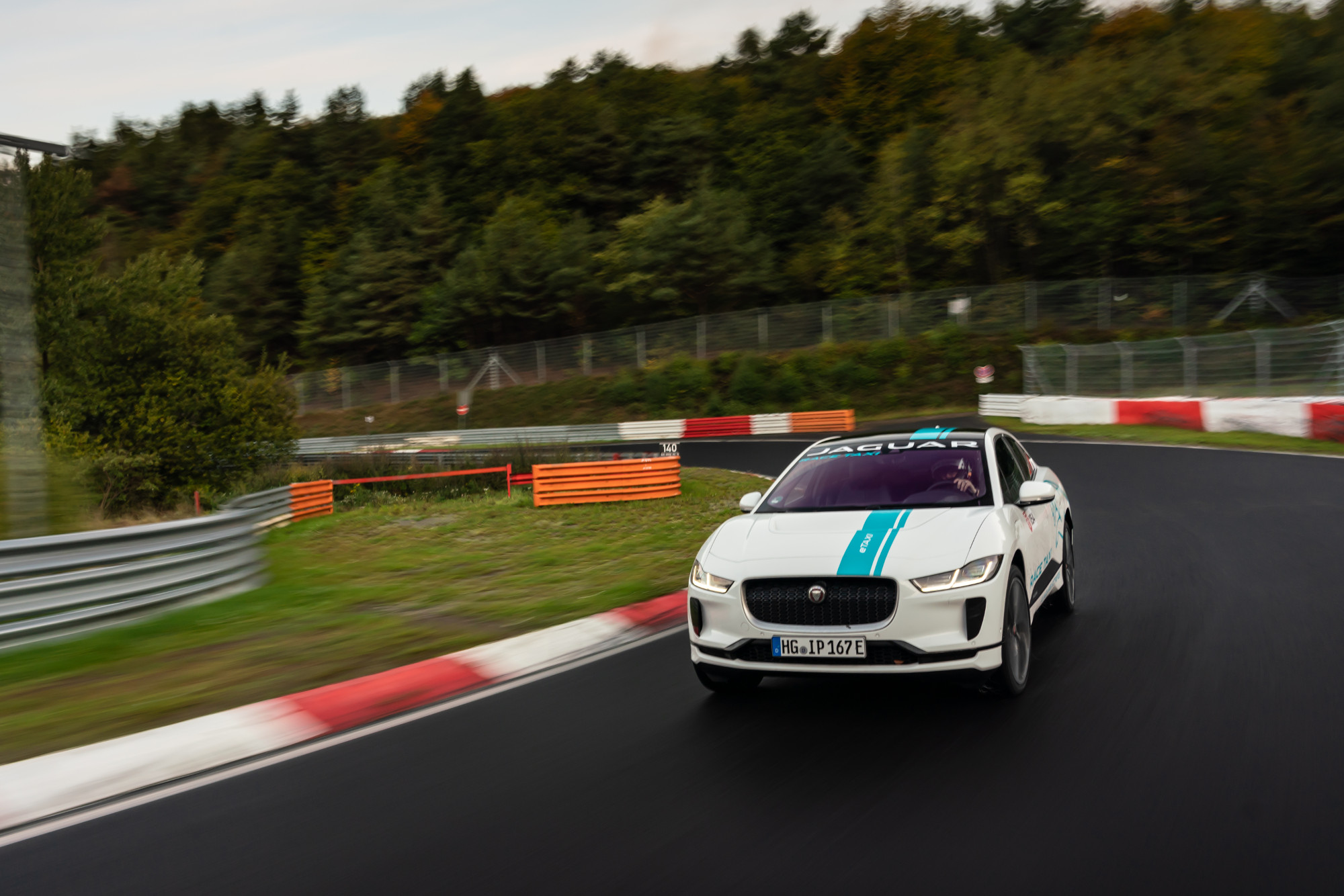 Jaguar I-Pace, el primer RACE eTAXI en Nürburgring