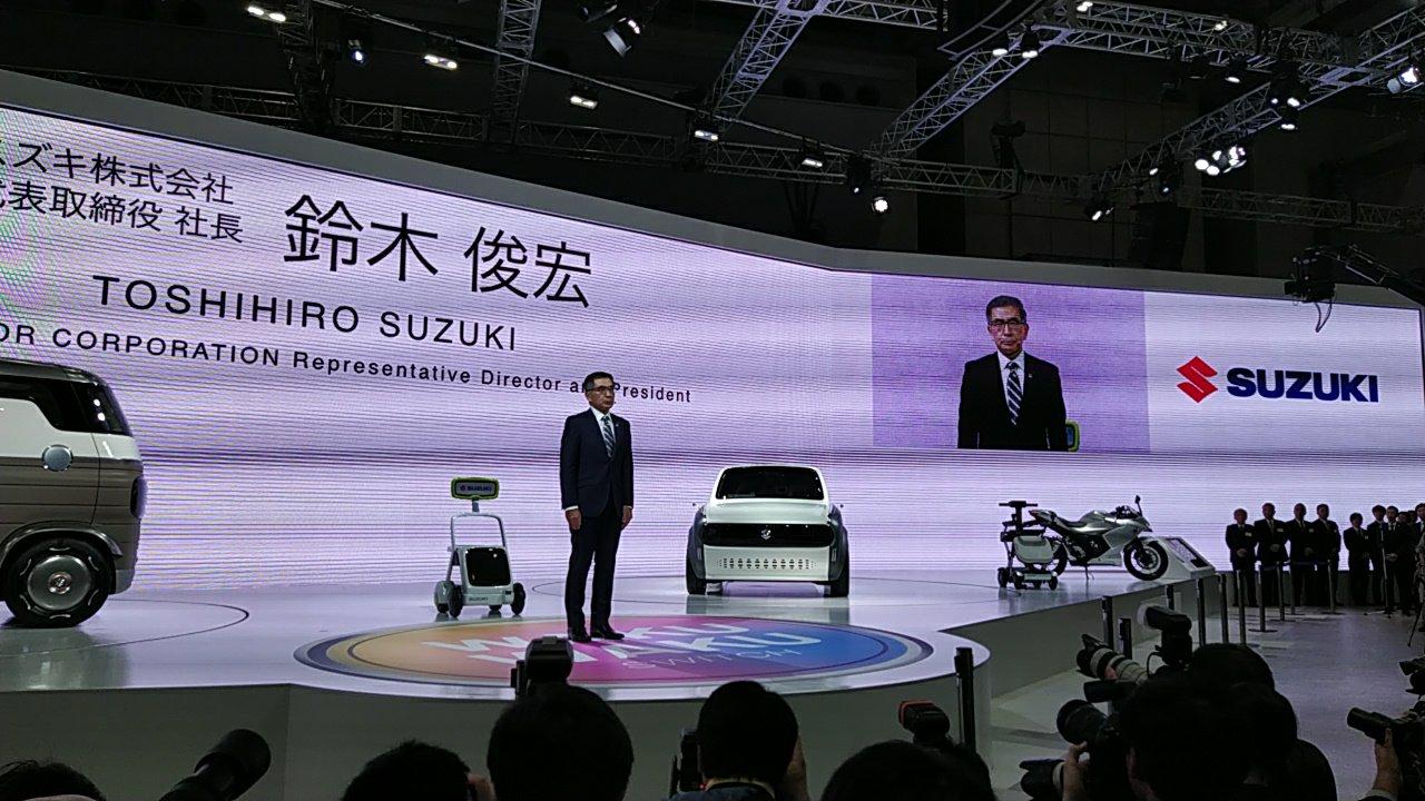 Suzuki atrae miradas en el Autoshow de Tokio