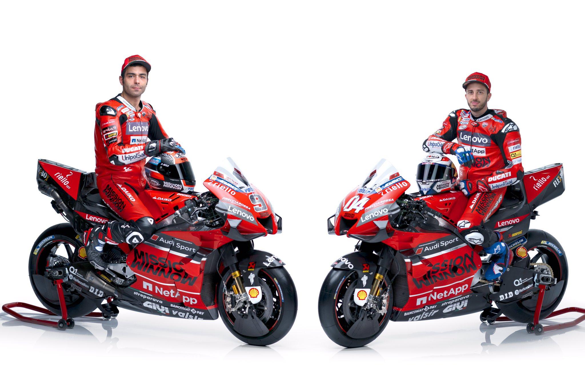 Pilotos del equipo Ducati