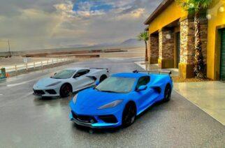 Corvette Stingray a prueba en Las Vegas.