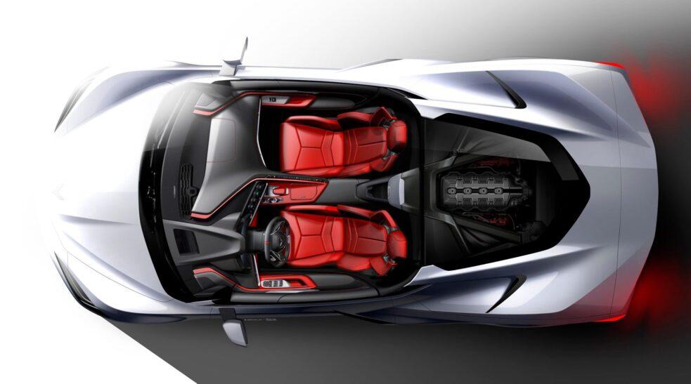 Corvette dibujo c8