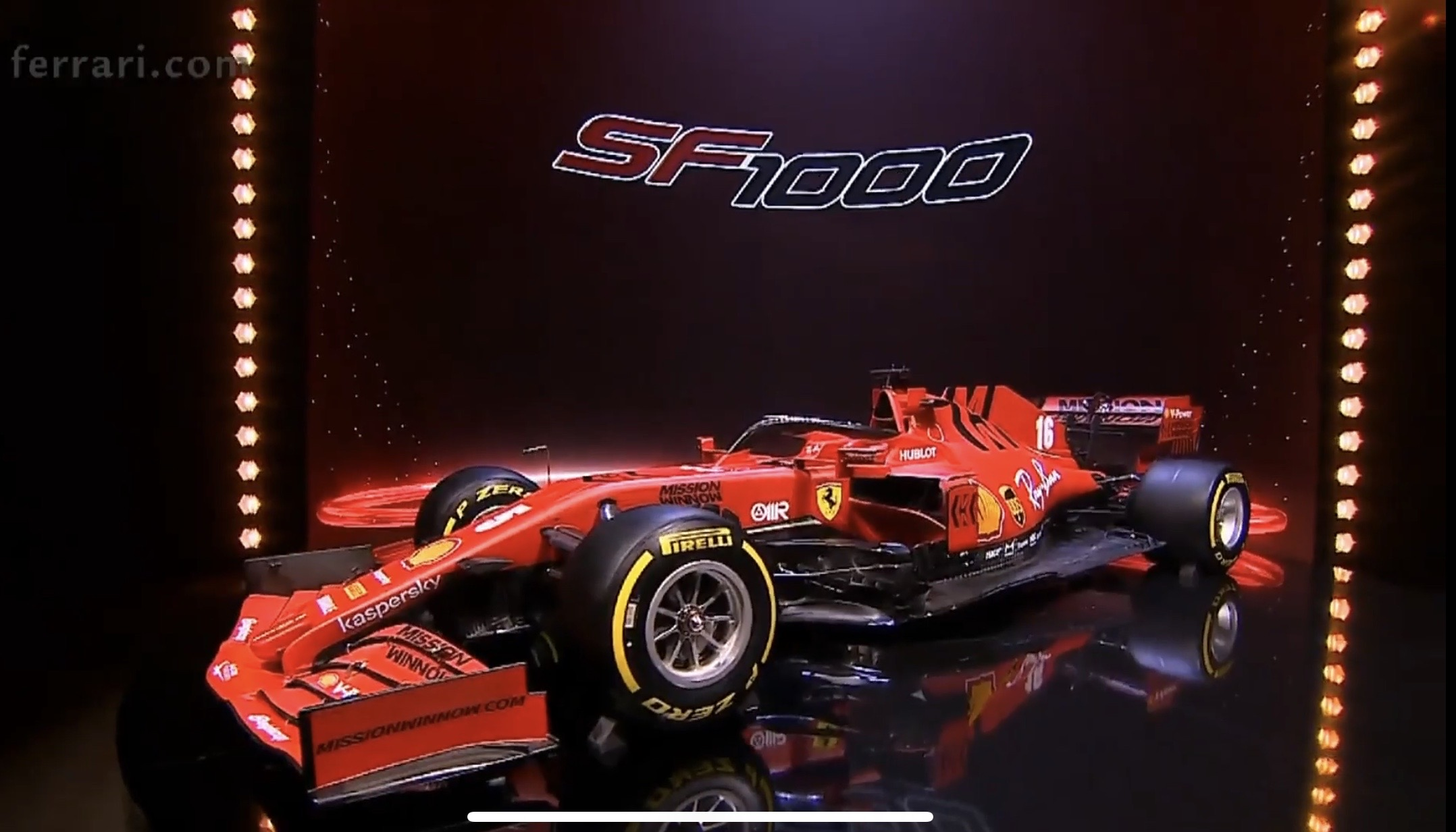 Ferrari presenta el SF1000, su nuevo monoplaza