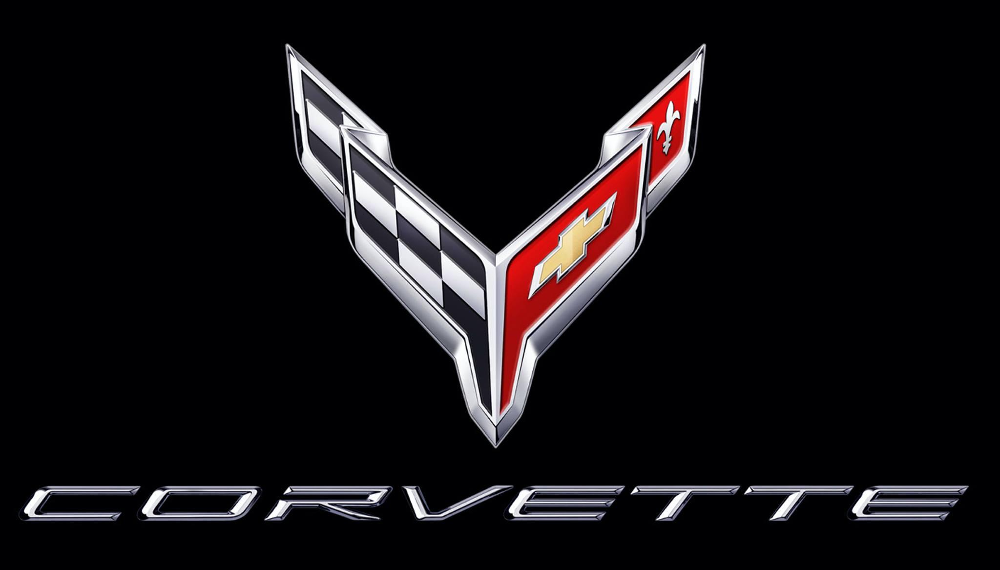 Logo de Chevrolet Corvette bandera