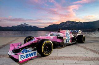 Sergio Pérez revela el nuevo monoplaza de Racing Point