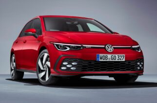 Frente del nuevo VW GTI 2021